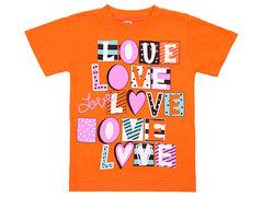 19065-36 футболка для девочек, оранжевая
