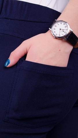 Эшли. Стильные джеггинсы больших размеров. Синий.