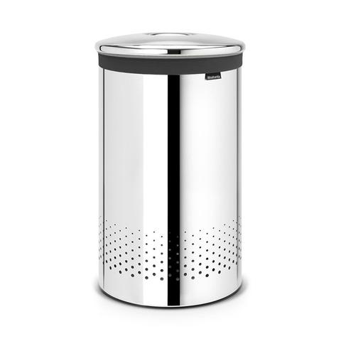 Бак для белья с металлической крышкой (60 л), Стальной полированный, арт. 105203 - фото 1