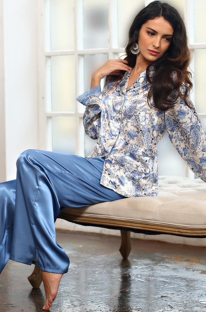 шелк натуральный Пижама женская натуральный шелк Mia-Amore Дольче Вита  5916 5916.jpg