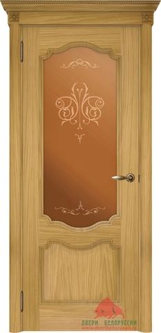 Дверь Двери Белоруссии Престиж ПО, цвет натуральный дуб, остекленная