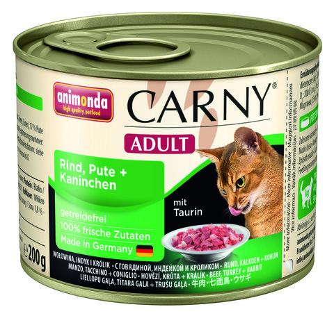 Консервы Animonda Carny Adult с индейкой и кроликом для взрослых кошек