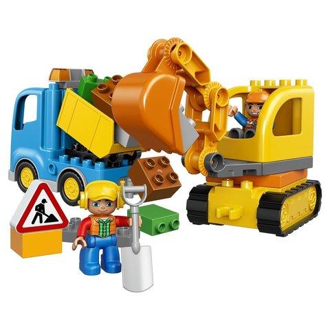 Конструктор LEGO DUPLO Town Грузовик и гусеничный экскаватор (10812)