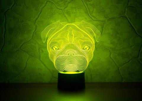 3D светильник Мопс