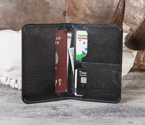 BC142-1 Мужская кожаная обложка для автодокументов, паспорта и карт
