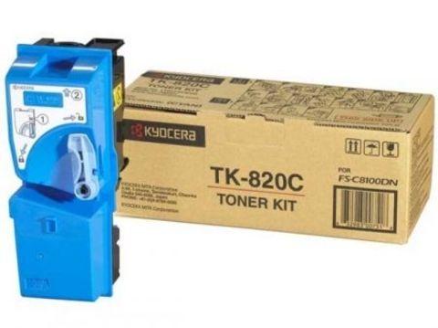 Тонер-картридж Kyocera Cyan TK-820C для FS-C8100DN (7000стр)