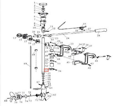 Хомут для лодочного мотора T3,5 Sea-PRO