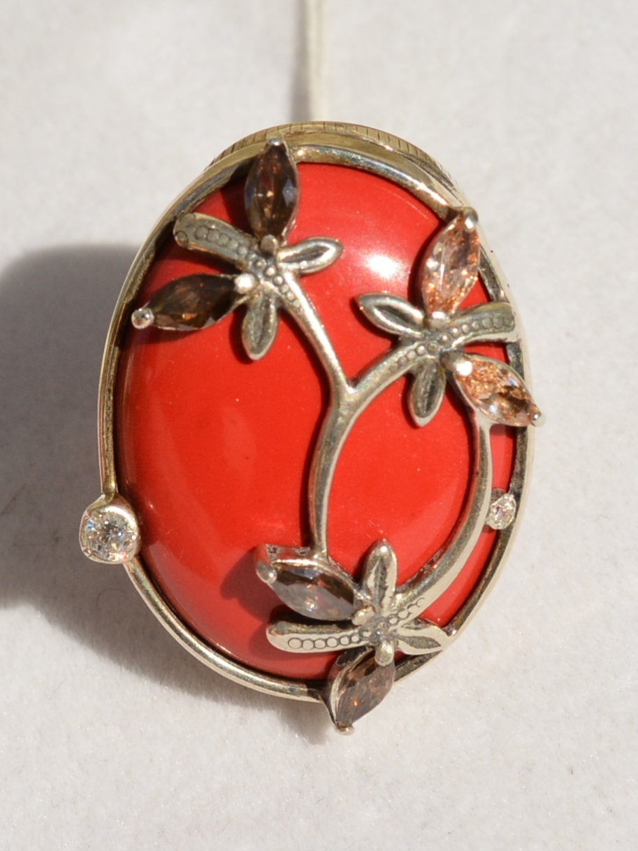 Лира (кольцо из серебра)