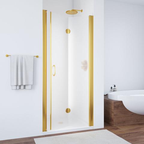 Дверь в душевой проем Vegas Glass GPS профиль золото, стекло сатин