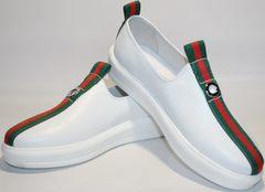 Женские белые кроссовки New Malange M970 white.