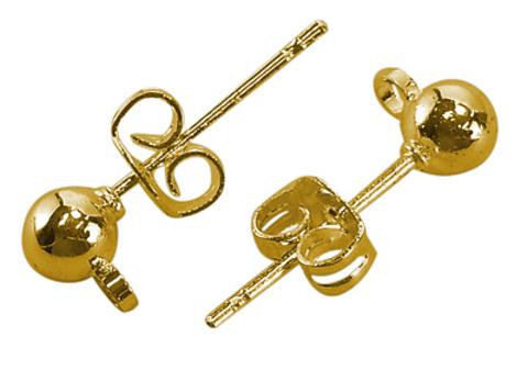Пуссет - Шарик золото цена за 1 пару