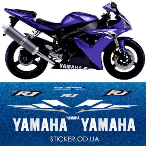 Набор виниловых наклеек на мотоцикл YAMAHA YZF-R1 2003