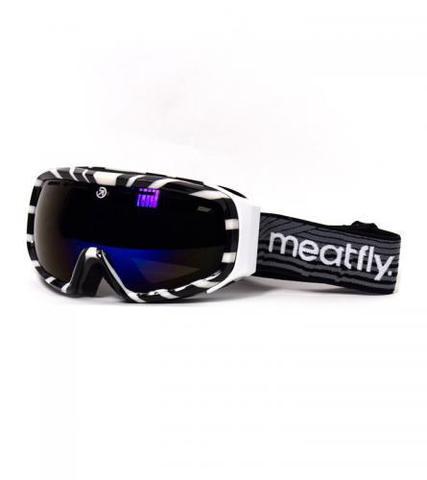 Сноубордическая маска Meatfly Attos (white/black)