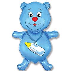 F Мини фигура Медвежонок мальчик (синий) / Bear boy (14