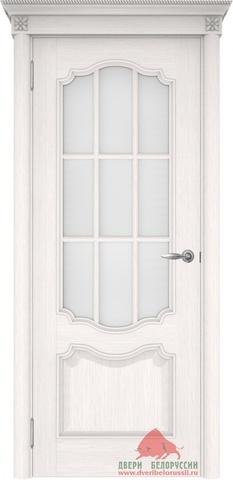 Дверь Двери Белоруссии Престиж ПО с решёткой, цвет ясень белый, остекленная