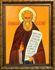 Макарий Калязинский преподобный игумен. Икона на холсте.