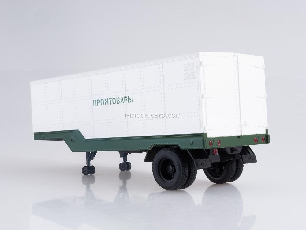 Semitrailer ODAZ-794 Manufactured Goods white-green 1:43 AutoHistory