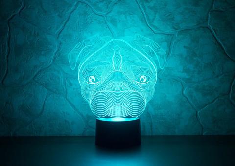 3D лампа Мопс