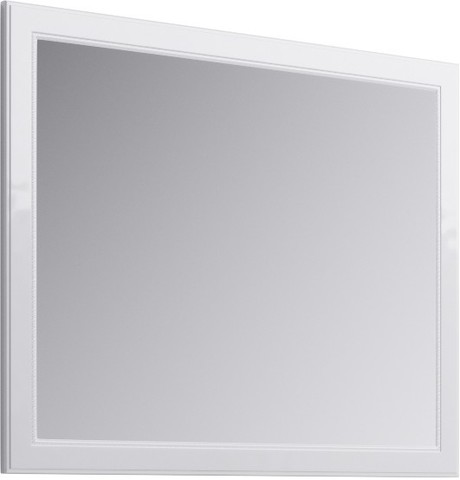 Империя Зеркало в раме, цвет белый Emp.02.10/W,