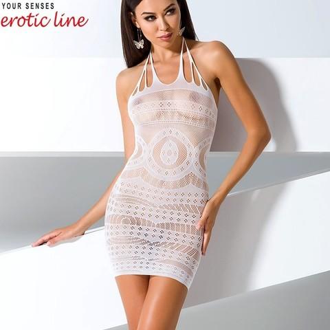 Красивое платье сетка с узорами белое