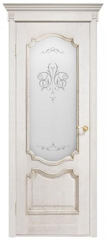 Дверь Двери Белоруссии Престиж ПО, цвет ясень белый, остекленная