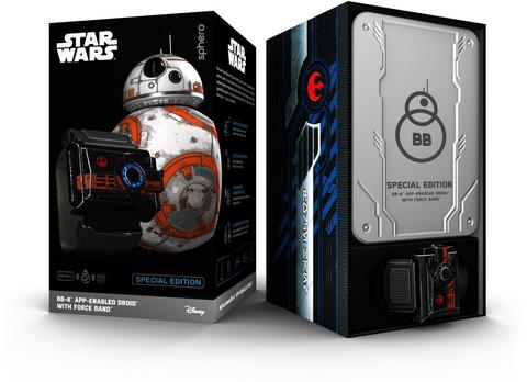 Робот + браслет Sphero Star Wars BB-8 with Force Band для iOS/Android устройств белый/оранжевый R001SRW/R001SAP