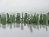 Бусина из нефрита, фигурная, 7x9 - 13x24 мм (крошка, гладкая)