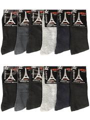 A609 носки мужские 42-48 (12шт.) цветные