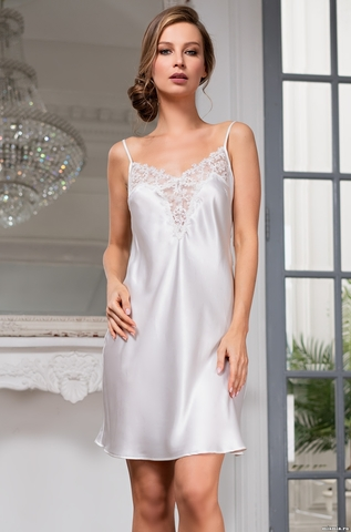 Сорочка женская шелковая MIA-Amore WHITE SWAN Белый Лебедь 3550