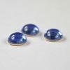 Кабошон круглый Чешское стекло, цвет - синий, 7 мм