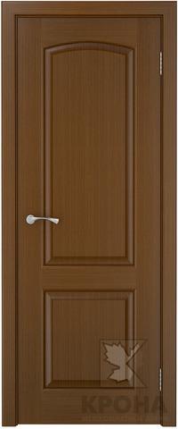 Дверь Крона Порто 2, цвет орех, глухая