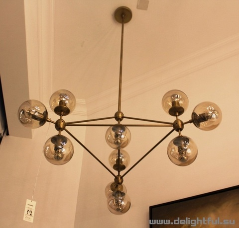 replica Modo Chandelier by ROLL and HILL ( 10 globes +champange )