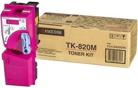 Тонер-картридж Kyocera Magenta TK-820M для FS-C8100DN (15000стр.)