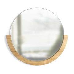 Настенное зеркало Mira натуральное дерево Umbra