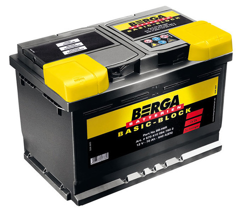Аккумулятор BERGA Basic-Block 60Ah 540A R+