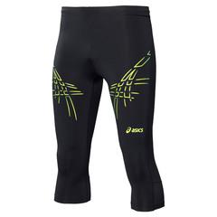 Мужские тайтсы Asics Tiger Knee Tight (121334 0392) с желтыми полосами