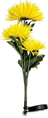 Светильник садово-парковый на солнечной батарее «Астра 3шт.» желтый, 3 LED белый, 80см , PL304 (Feron)