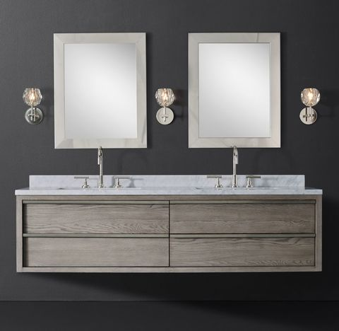 Bezier Double Floating Vanity