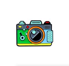 Пин «Фотоаппарат» (зелёный)