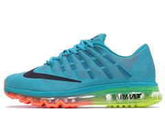 Кроссовки Мужские Nike Air Max 2016 Sea Blue Orange Green