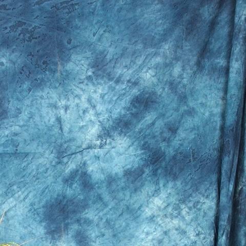 Тканевый фон Grifon W-069 2,7х5 м пятнистый синий с белым