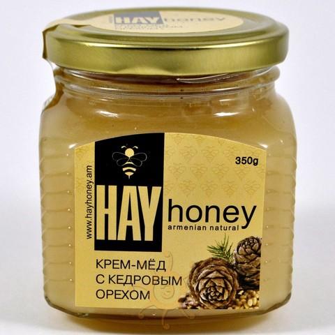 Крем-мёд с кедровым орехом Нау Honey, 140г