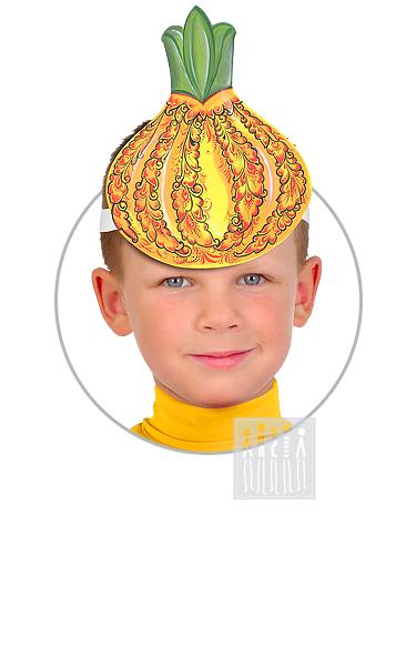 Головной убор - маска Лук с Хохломской росписью