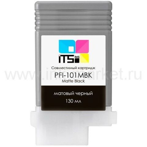 Совместимый картридж PFI-101MBK для Canon imagePROGRAF 5000/6000S Matte Black Pigment, 130 мл (М0000004009)