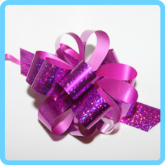 Бант подарочный фиолетовый с блестками 3 см