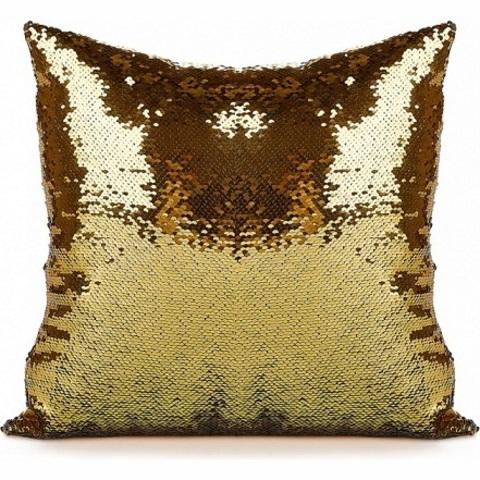 Декоративная подушка с пайетками - модный аксессуар для вас и вашег...