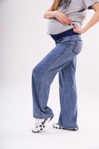 Джинсы для беременных (STRAIGHT CUT) 09527 синий