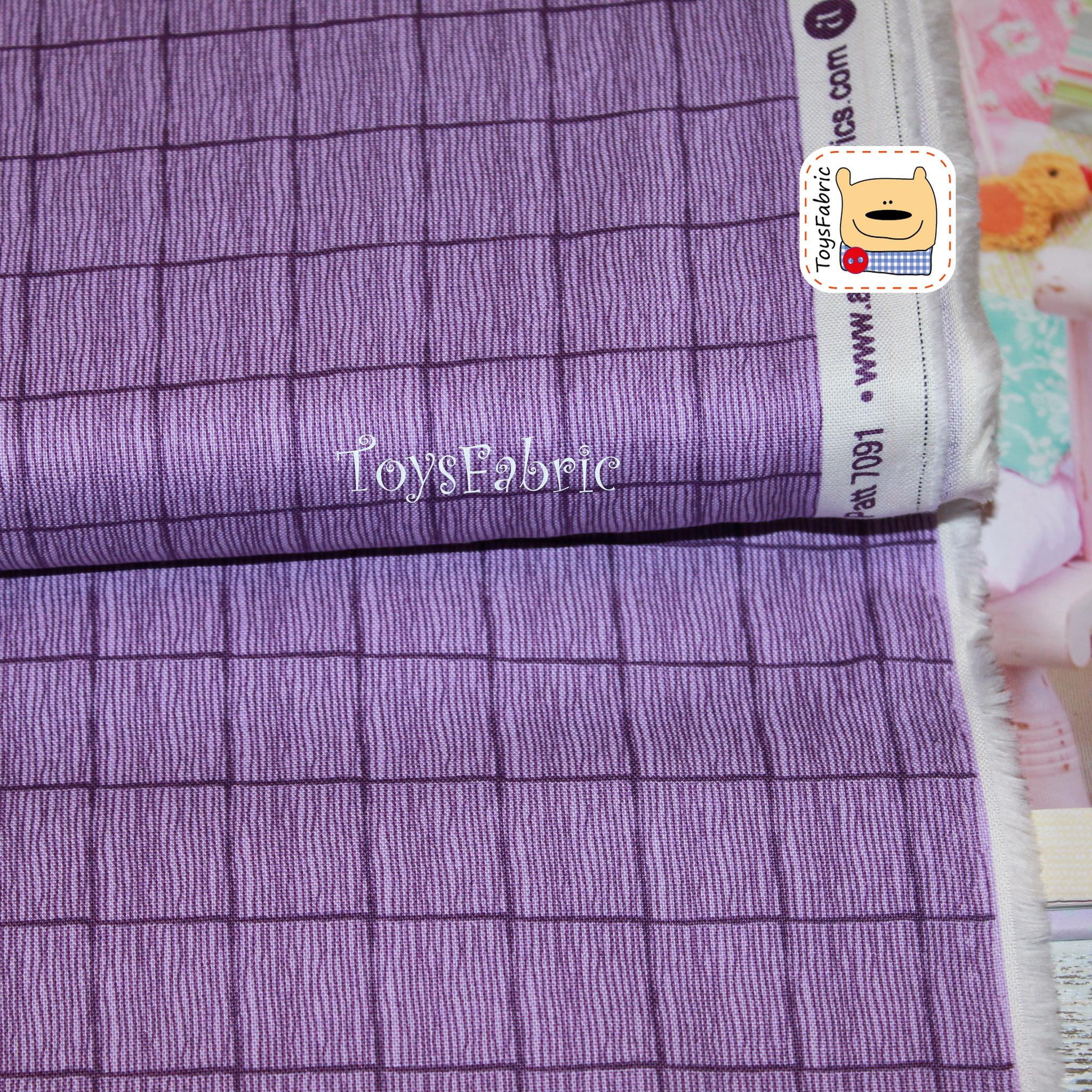 Ткань для пэчворка 20617 (фиолетовая клетка) 45х55см