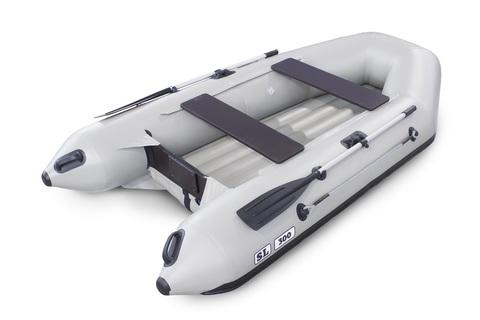 Надувная ПВХ-лодка Солар SL - 300 (светло-серый)