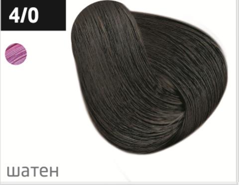 OLLIN color 4/0 шатен 60мл перманентная крем-краска для волос